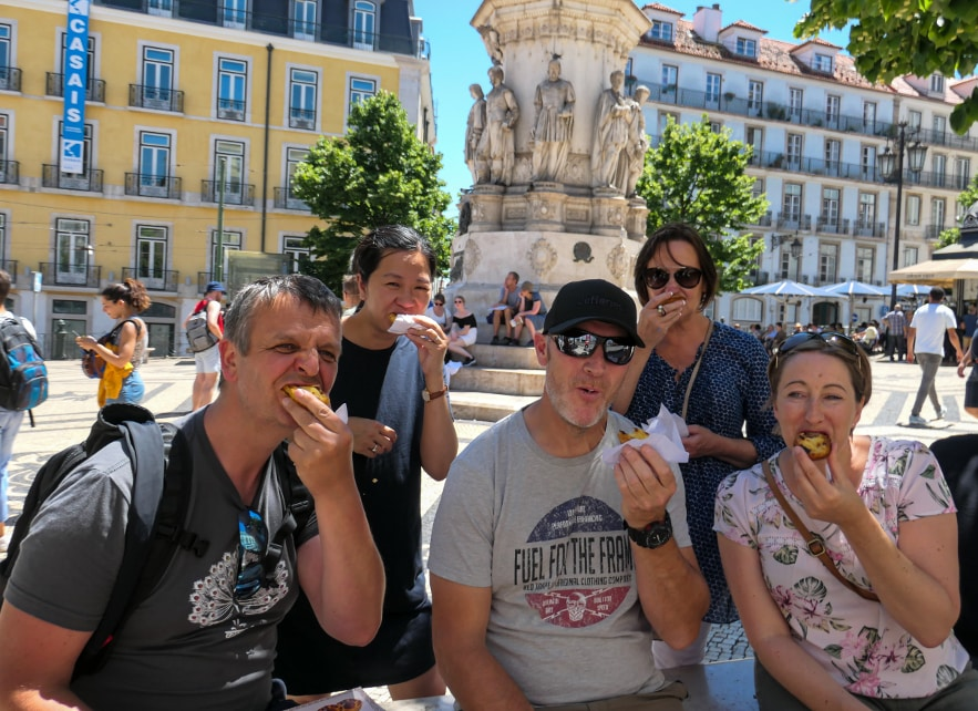The Pasteis de nata tasting team in Portugal